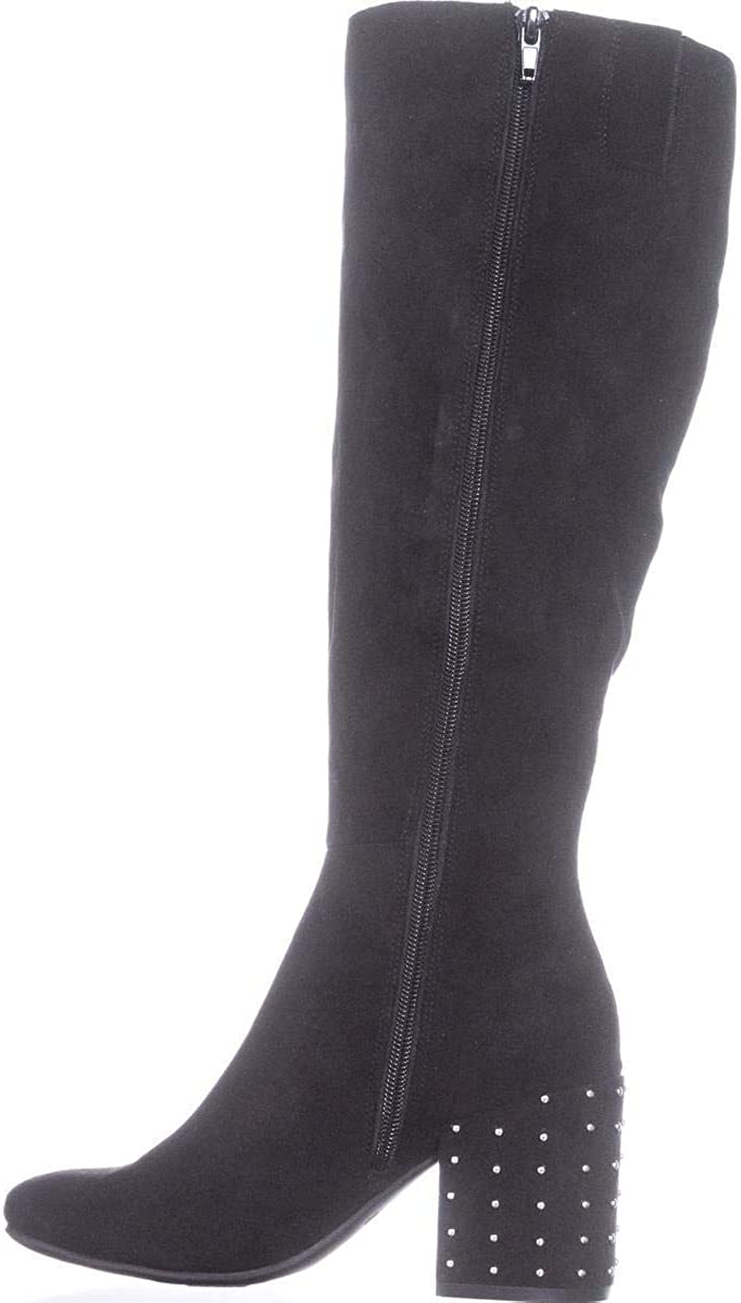 Bar III Womens Grand Faux Suede Studded Over-The-Knee Boots