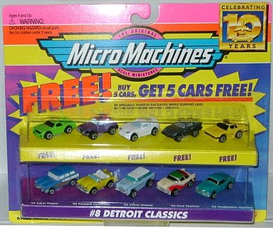 Micro Machines Detroit Classics #8 + 5 Bonus Cars Collection for sale  Delivered anywhere in USA