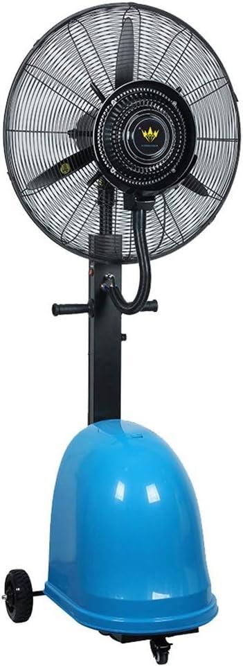 Ventilador de Agua en Spray Ventiladores de Pedestal Ventilador de pie Ventilador de pie oscilante e inclinable Industrial con nebulizador de Agua 3 velocidades para Oficina de Gimnasio