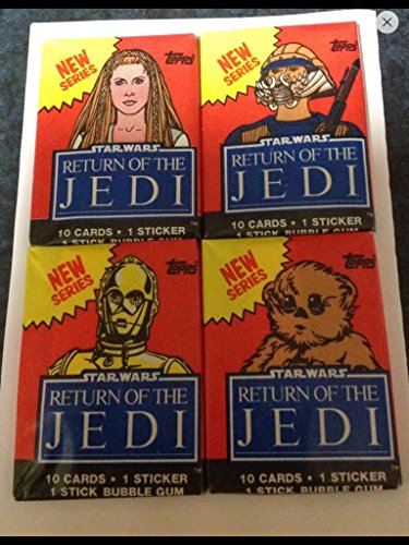 1983 Topps Star Wars (4) Unopened Wax Pack Non-sport Trading Cards Return of the Jedi from Topps