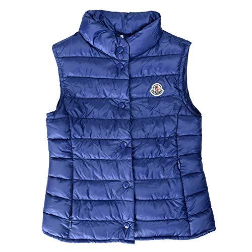 Moncler Kid's Liane Blue Down Light Sleeveless Parka Jacket Vest Moncler Sz 5A ()