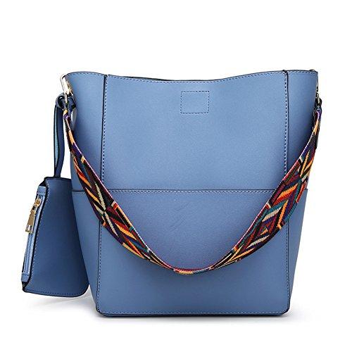 Leather Bucket Handbag - 6