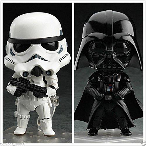 "TONGROU Stormtrooper & Darth Vader Nendoroid 501+502 4"" Action Figure 2PCS set"