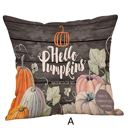 CHIDY Halloween Bat Little Ghost Little Bird Trolley Square Pillow Cases Linen Sofa Pumpkin Ghosts car Cushion Cover Home Decor -