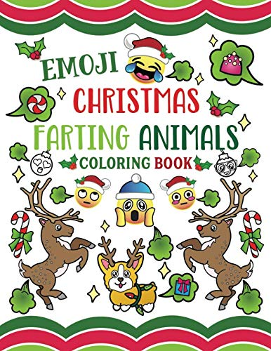 Emoji Christmas Farting Animals Coloring Book -