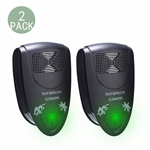 Pest Control Ultrasonic Pest Repeller, Electronic Pest Repeller Plug in, Repel Mosquitoes, Roaches, Spiders,Mice, Rats, etc,Environment-friendly-2 Pack