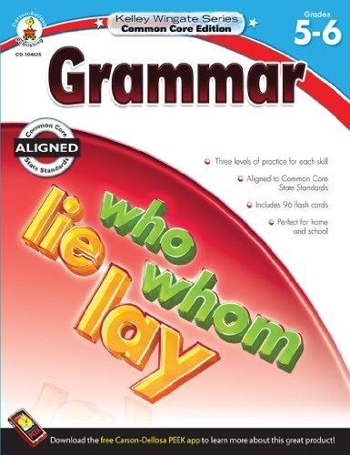 Download Grammar, Grades 5 - 6 (Kelley Wingate) (Csm Wkb) [Paperback] pdf epub