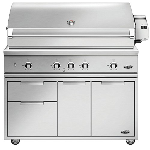 DCS Evolution Freestanding Gas Grill with Rotisserie (BE1-48RC-L-CAD1-48E), 48-Inch, Propane