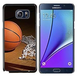 EJOOY---Cubierta de la caja de protección para la piel dura ** Samsung Galaxy Note 5 5th N9200 ** --Aro de baloncesto