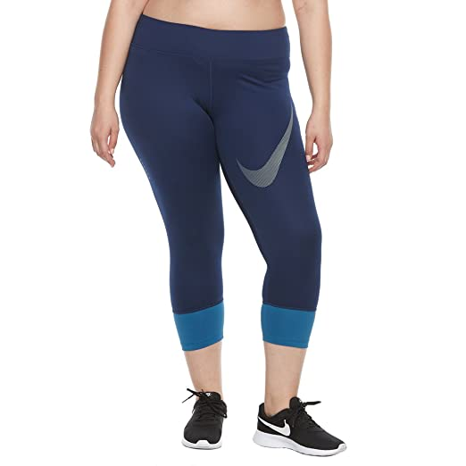 48fb453e000 Amazon.com  NIKE Women s Plus Size Power Essential Running Cropped Leggings   Sports   Outdoors