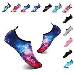 Yalox Women S Men S Water Shoes Outdoor Beach Swimming Aqua Socks Quick Dry Barefoot Shoes For Surfing Yoga Exercise Rock Red 40 41eu