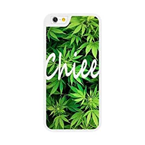 iPhone 6 6S Plus 5.5 Inch Case White Chill With Weed Trippy Mary Jan_001