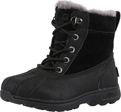 UGG Kids K Leggero Lace-up Boot, Black, 4 M US Big (Ugg Lace Up Boots)