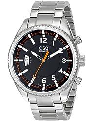 ESQ Movado Mens 07301425 esq CATALYST tm Three-Hand Black Dial Watch