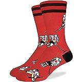Good Luck Sock Men's Calgary Hockey Crew Socks, Calgary Flames