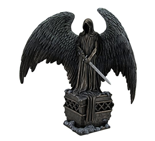 Polyresin Statues Guardian Angel By La Williams Bronze Finish Dark Angel Statue 5.5 X 12 X 11 Inches Bronze (Statuary Dark Bronze)