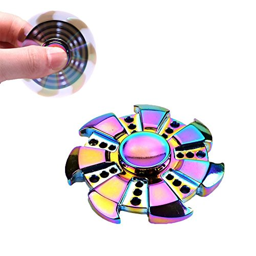 Ysiop Tri Spinner Hand Toy for Fidget,Second Generation Upgrade Twiddle Spinner of Finger with Imported Ball Bearing,3+ mins Stable Rotation Gadget Spinner for EDC,ADD,ADHD,Anxiety,and Autism