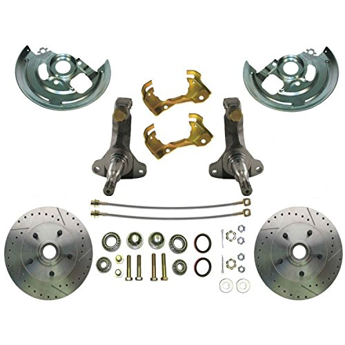 Slotted Stock - Helix Suspension Brakes and Steering A-body stock kit + slotted rotors + GH lines Chevy GM High Performance Disc Brake Conversion Kit A Body Hoses Slotted Rotor