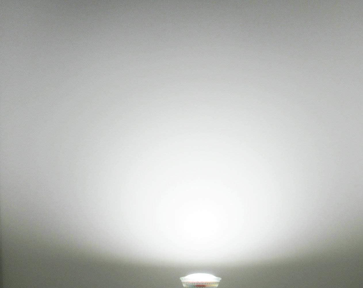 10-Pack,Full Glass GU10 LED Bulbs,5000K Daylight,Spot Light LED 5W 35W-50W Halogen Lights,450LM,Indoor Lighting GU10 LED Bright White Flood Light,120V,130-Degree Wide Beam Angle