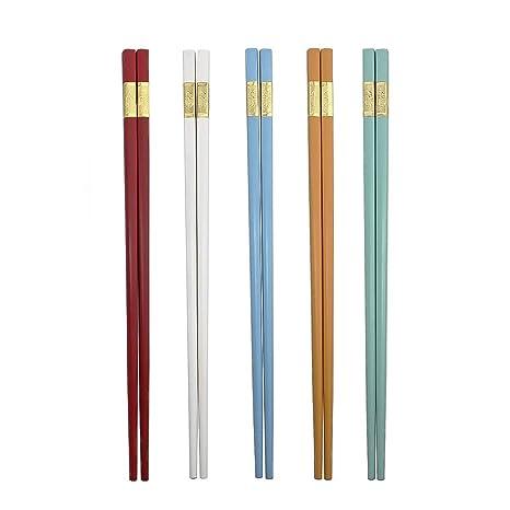 Amazon.com: Ajojo 5 pares de palillos de fibra de vidrio ...