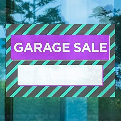 CGSignLab 30x20 5-Pack Garage Sale Modern Block Window Cling