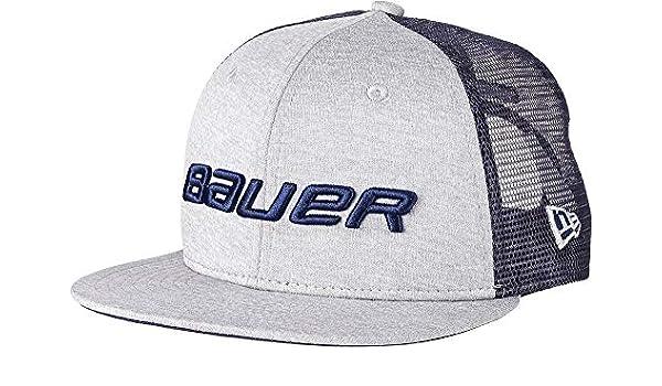 e45e461c8b35d Amazon.com  Bauer Youth 9Fifty Snapback Hockey Hat (Navy OneSize)  Sports    Outdoors