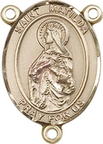 14K Gold Filled Saint Matilda Rosary Centerpiece Medal, 3/4 Inch