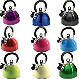 2.5L STAIINLESS STEEL LIGHTWEIGHT WHISTLING KETTLE CAMPING FAST BOIL FISHING NEW (CREAM)