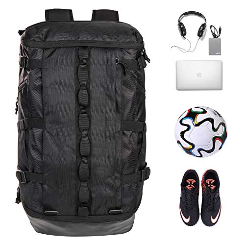 - TRAILKICKER 35L Basketball Backpack, College Laptop Backpack, Best Sports Bag for Soccer, Gym, Football & Volleyball with Ball Compartment