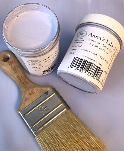 Sinopia All Natural Artisanal Milk Paint Anna's Lilac for General Painting Projects Yielding Great Chalky Finishes (Crackle Paint Antique Linen)