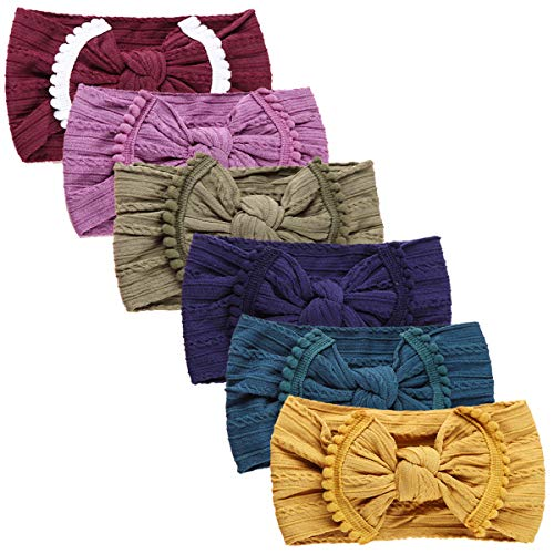 Baby Super Stretchy Nylon Knotted Headbands Baby Head Wraps Baby Headbands Bows