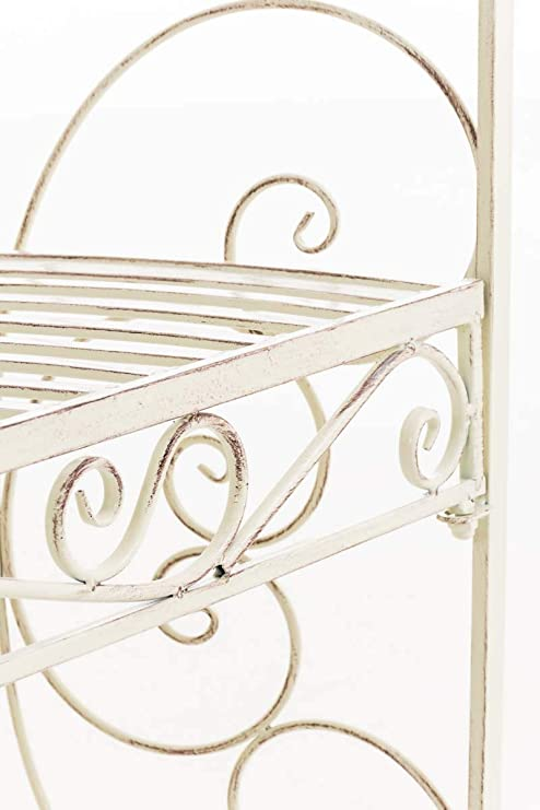 CLP Padiglione Giardino con Panca Rosie I Gazebo Padiglione in Ferro I Pergola A Semiluna Portata Max 200 kg Colore:Antico-Verde
