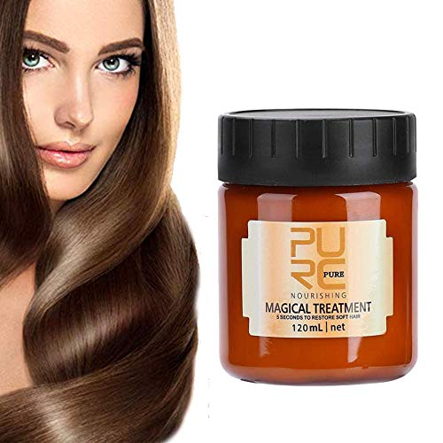 120ml Magical Hair Treatment Mask 5 Seconds Repairs Damage Hair Advanced Molecular Hair deep Conditioner Roots Treatment…