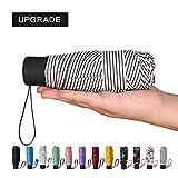 umbrella uv protection - NOOFORMER mini Travel sun&rain Umbrella - Light Compact Parasol with 95% UV Protection for Men Women Multiple Colors