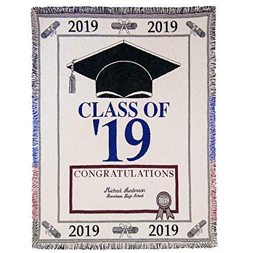 (A PLUS MARKETING Personalized Graduation Afghan 2019)