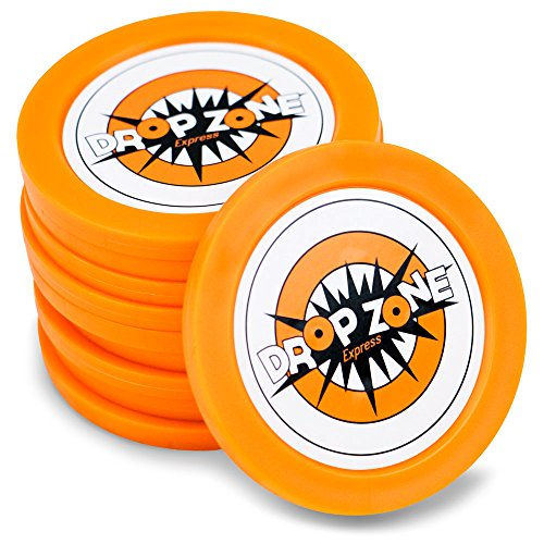 Plastic Puck (5 Pack of Replacement Drop Zone Express Pucks by Midway Monsters)