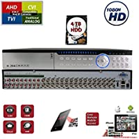 32 Channel H.264 HD 1080 CCTV Security Home Office Professional DVR Recorder with 4TB HDD Included