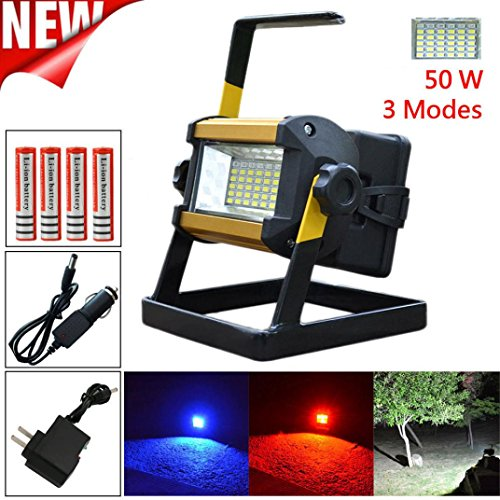 Led Flood Light, Napoo Portable 50W 36 LEDWaterproof Rechargeable Worklight Spot Work Lamp Emergency Light For Outdoor Camping, Working, Fishing by Napoo (Image #7)