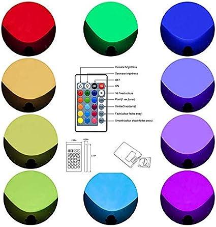 Lot de 2 Spots LED Exterieur 10W RGB /Éclairage Ext/érieur LED spot de jardin Avec t/él/écommande,/éclairage de jardin /à LED Spots Exterieurs avec prise IP66 /étanche pour gazon ext/érieur
