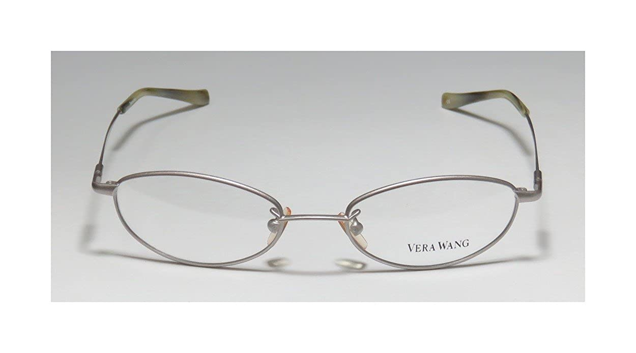 49-17-135, Silver Vera Wang V01 Womens//Ladies Prescription Ready Celebrity Style Oval Full-rim Eyeglasses//Eye Glasses
