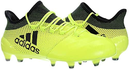 hidrógeno Conectado despierta  Amazon.com: adidas Performance Mens X 17.1 Leather Firm Ground Football  Boots -Yellow: Sports & Outdoors