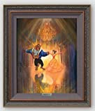 Disney Fine Art The Perfect Dance by John Rowe Frame Dimension 26.5'' x 22.5'' Disney Beauty and the Beast Silver Series Limited Edition on Canvas Framed Wall Art