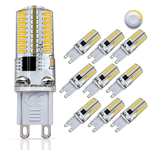 DiCUNO G9 Dimmable LED Bulb, 30 Watt Equivalent(3 Watt) Soft White 3000K,120V Corn Bulb, 10-Pack ()