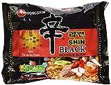 Nongshim Shin Ramyun BLACK - 4.58 Oz 4 Packs (Made in USA)
