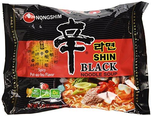 Nongshim Shin Ramyun BLACK - 4.58 Oz 4 Packs (Made in USA) ()