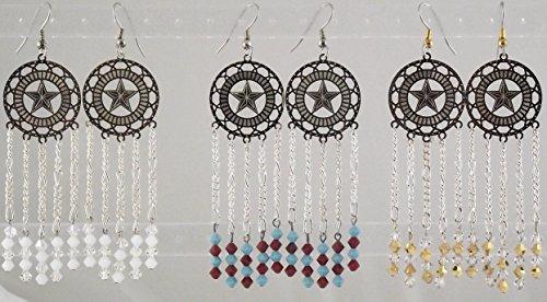 Swarovski Crystal Star Chandelier Earrings (Chandelier Crystals Stars Swarovski)