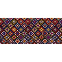 Faux Flooring Kilim Blanket Runner, 25 by 60-Inch, Multicolor