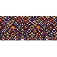 Faux Flooring Kilim Blanket Runner, 25 by 60-Inch, Multicolor