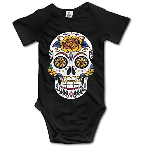 Price comparison product image Baby Short Sleeves Triangle Romper Bodysuit Onesies Infant Toddler Flower Sugar Skull Climbing Clothes Outfits