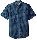 G.H. Bass & Co. Men's Explorer Fancy Short Sleeve Plaid Shirt, Rich Navy Blazer, X-Large